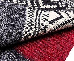 Teen Boys Mens Contrast Color Long Scarves Winter Warm Cozy Leisure Mufflers Nec image 7
