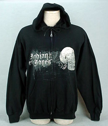 Indiana Jones Black Hoodie - Adult Medium NWT