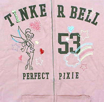 Tinker Bell Tinkerbell Pink Jacket - Junior XLarge NEW
