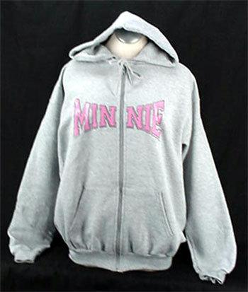 Minnie sketch zip hoodie 1