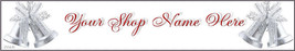Christmas Red White Silver Bells Custom Designed Web banner 49a - $7.00