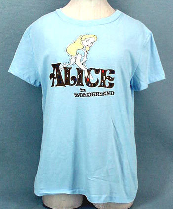 Alice in Wonderland Jeweled T-Shirt - Large - NWT NEW