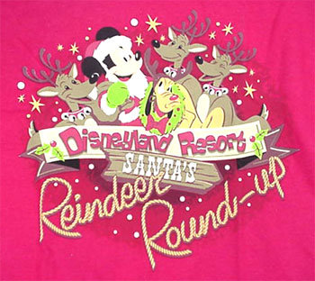 DLR Santa's Reindeer Round-Up T-Shirt Adult Large - NEW