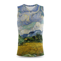 Vincent Van Gogh Fine Art Painting Mens Sleeveless Tank Top - $32.99+