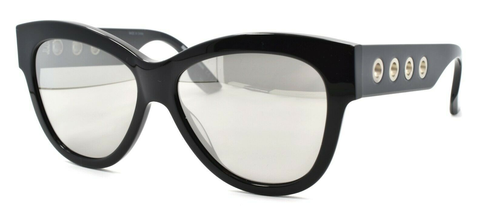 Primary image for McQ Alexander McQueen MQ0021S 002 Women's Sunglasses Cat Eye Black / Mirrored