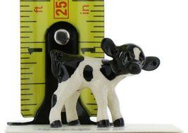 Hagen Renaker Miniature Holstein Bull, Cow and Calf Ceramic 3 Piece Figurine Set image 4