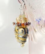 Handmade lampwork dangle earrings. - $38.00