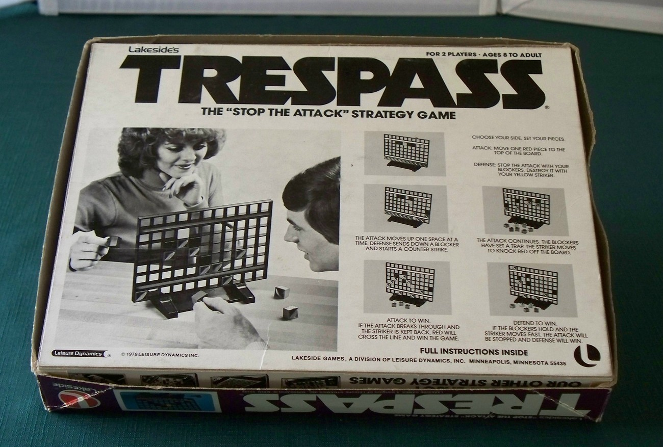 Trespass Strategy Game Lakeside 1979 Complete VGC