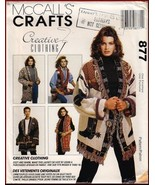 McCall's 877 Misses' Southwest Style Afghan Coat Jacket Vest Pattern 8-16 - $8.95
