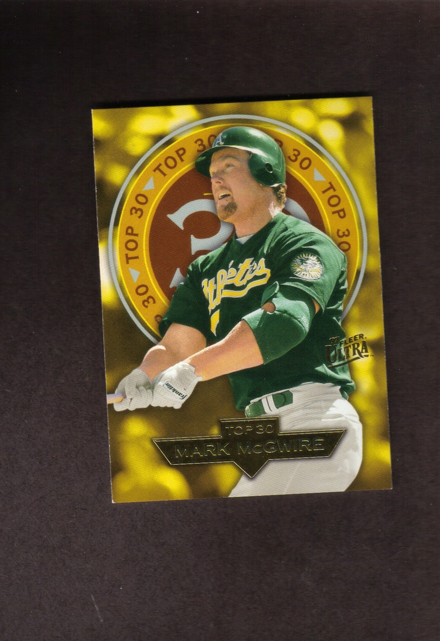 1997 Fleer Ultra Top 30 # 14 Mark McGwire Oakland A's