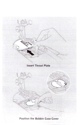 Touch & Sew 640 Chain Stitch Throat Plate, Bobbin Cover & Thread Guide
