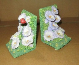 Vintage Windup Music Box BOOK ENDS-Flowers-The Way We Were - $10.95