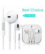 2 Pack Headphones Earphones Stereo Noise Isolating Earbuds Compatible iP... - $27.48