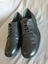 Easy Spirit Womens Freeneasy Black Leather Oxford Comfort Walking Shoes Size 8.5 - $22.76