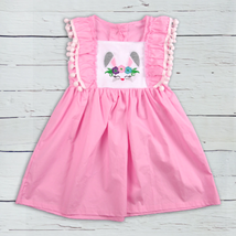 NWT Boutique Girls Easter Bunny Rabbit Pink Dress 3T 4T 5-6 6-7 7-8 - $16.99