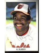 Al Bumbry Autographed Baltimore Orioles Postcard Mint  - $5.99