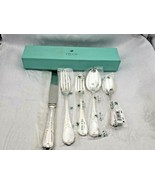 New DuBarry Pattern by Ecruis Silverplate 5 Piece Place Setting In Box 8993 - $379.00