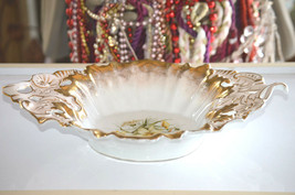 Beautiful Large Hand Painted C.T. Germany Centerpiece Bowl. - $31.50