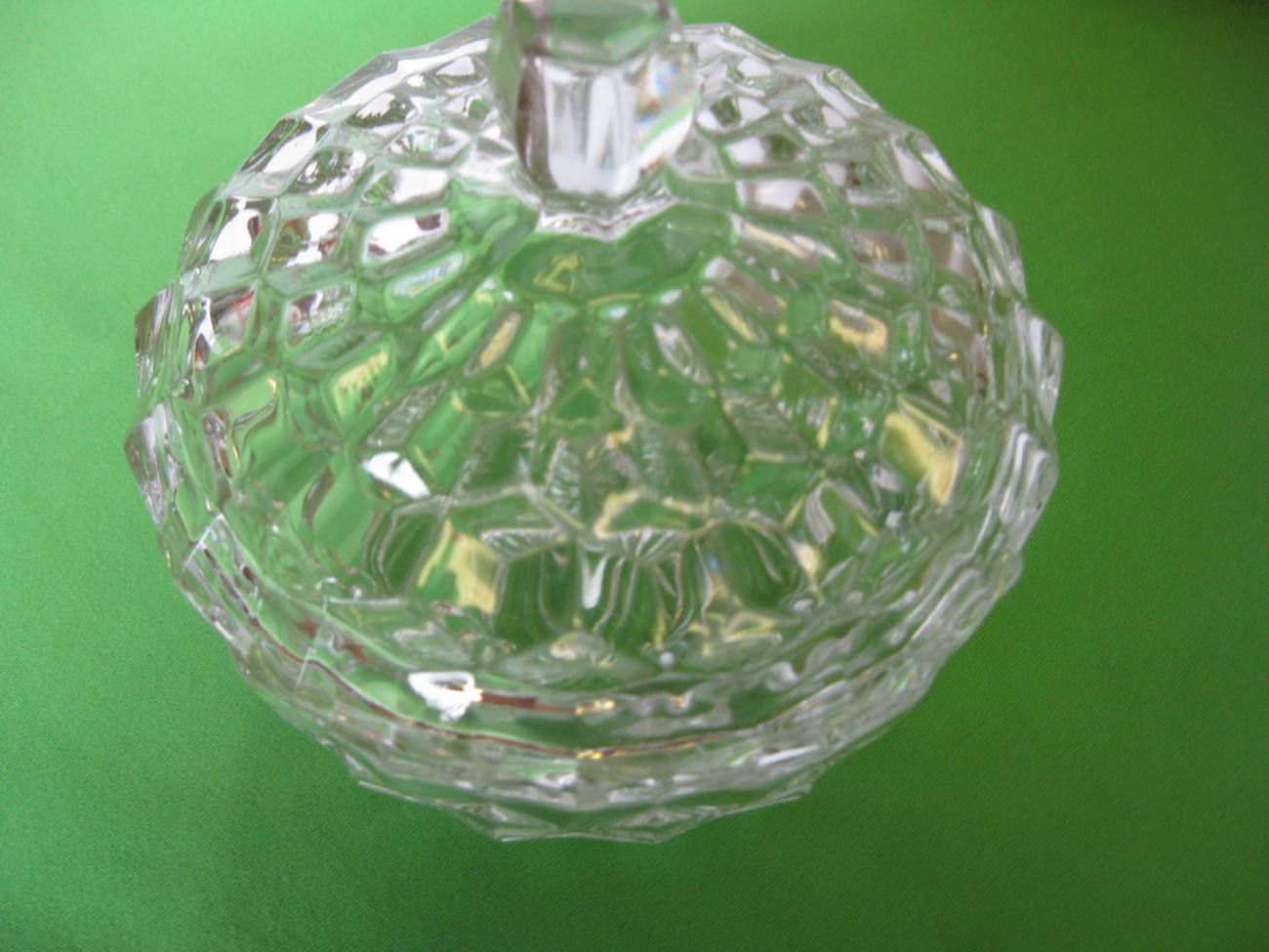 "Fostoria Glass American Clear 5"" Candy Dish w Lid USA"
