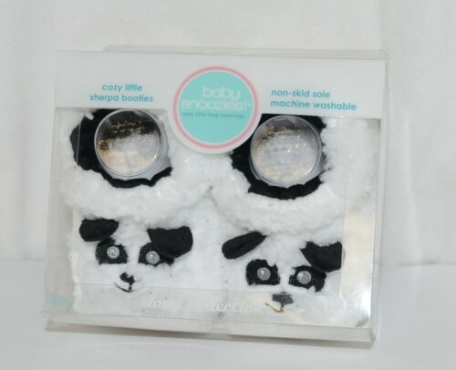 Baby Snoozies 1300Pand White Black Cozy Sherpa Booties Panda Size 6 to 12 Months