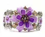Bracelet purple fancy crystal daisies thumb155 crop