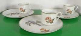Fitz and Floyd Collector's BIRD Snack Set Plate and Cup (s) LOT OF 3 - $39.55