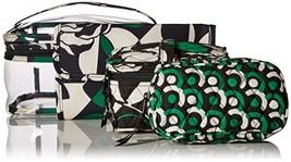 Vera Bradley Travel Cosmetic Set, Signature Cotton w/PVC Case (Imperial ... - $48.53