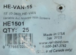Rain Bird High Efficiency Variable Arc Nozzles With Screens HE1501 Bag of 25 image 3