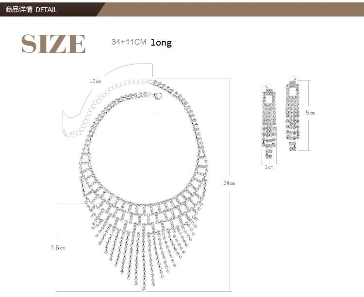 Swarovski Crystal necklace with Swarovski Crystal earings