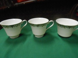 """Magnificent Royal Doulton """"Flowerlace"""" ,,,,Set Of 3 Coffee / Tea Cups - $12.46"""