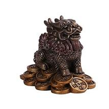 Pacific Giftware PT Traditional Chinese Money Feng Shui Chi Lin Dragon Horse Res - $15.44