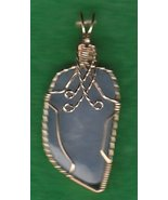 ELLENSBURG BLUE AGATE  WIRE WRAPPED PENDANT - £172.85 GBP