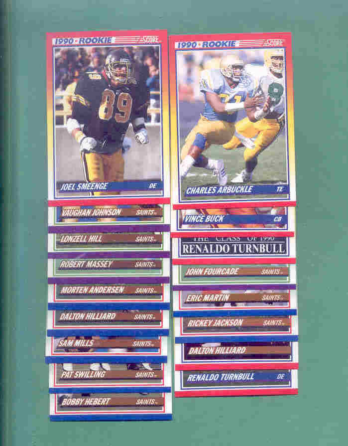 1990 Score New Orleans Saints Football Team Set