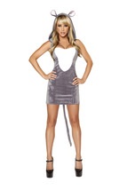 Roma 1PC Sexy Mouse Halloween Complete Costume W/HOOD EARS & TAIL S M L ... - $70.00