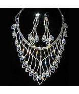 Swarovski Crystal necklace with spade pendants ... - $76.00
