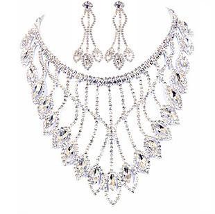 Swarovski Crystal necklace with spade pendants with Swarovsk
