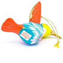Handcrafted Painted Ceramic Blue Hummingbird Confetti Ornament Made in Peru image 5