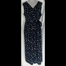 New Navy Stars V-Neck Sleeveless Jumpsuit Womens Size 16-18 Extra Large ... - $17.81