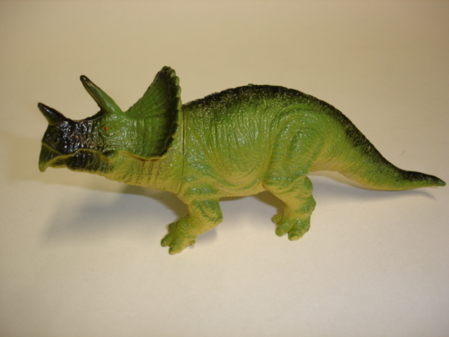 Primary image for vintage plastic squeaky toy dinosaur figure