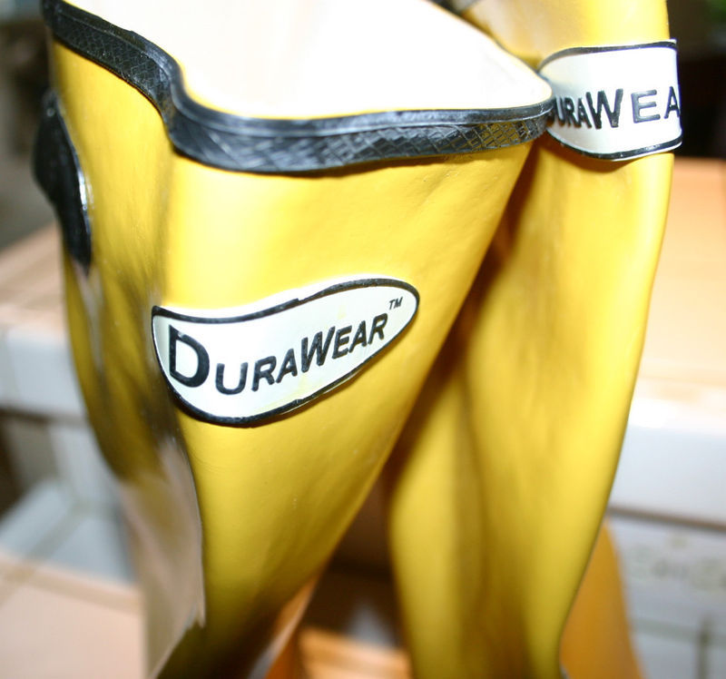 "NEW Durawear Safety Rubber Waterproof 16"" Knee Boots Size 15 Safety Yellow"