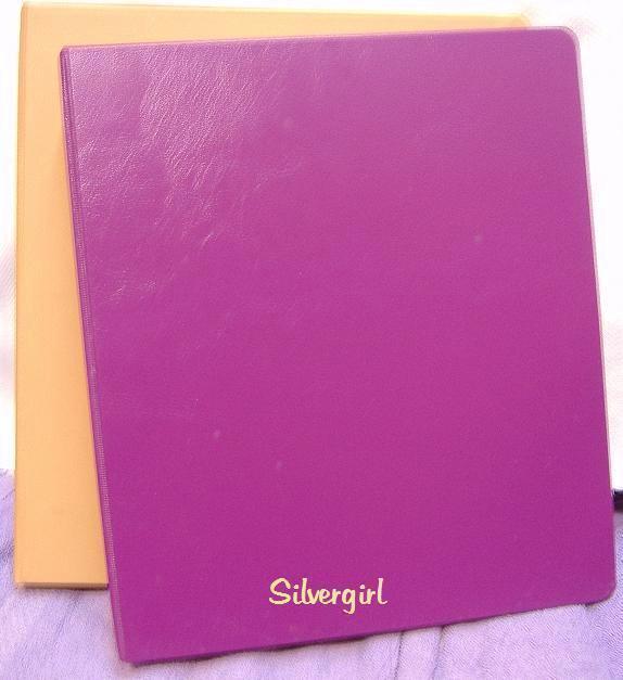 Purple tan 3 ring hard cover binders