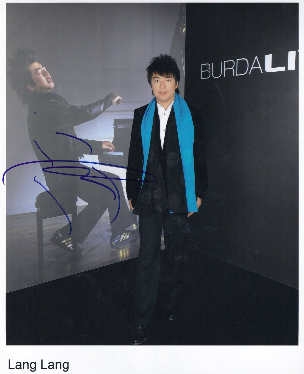 Lang Lang SIGNED Photo Certificate Of Authentication  100% Genuine