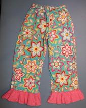 SmockaDot Kids 4T Pants So Cute! Girls Floral Bright Retro Large Print R... - $15.15