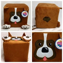 "Square Brown Puppy Dog Soft Foam Plush Cubed Animal 6"" by Nanco - $14.84"