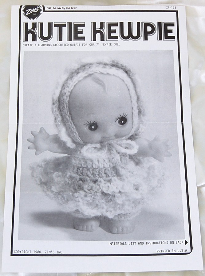 Kute Kewpie Crochet Pattern Outfit for Cupie/Kewpie Doll