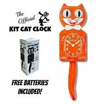 "Kürbis Genuss Set Katze Uhr 15.5 "" Orange Gratis Batterie USA Made Kit-C... - £48.21 GBP"