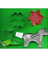 Lot of 4 Cookie Cutters .....Lot O - $4.00