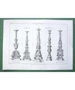 ARCHITECTURE PRINT : Candelabra by Michelangelo, Domenico Fontana, Raphael - $11.14