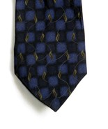 Dockers Khakis 100% Silk Necktie Blue Check Leaves On A Vine - $8.99