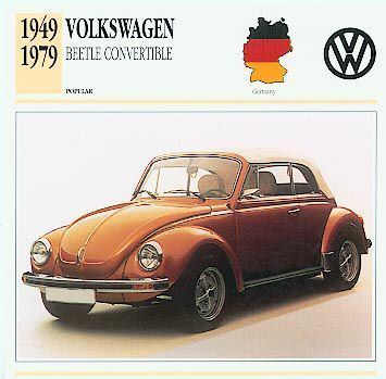 VOLKSWAGEN BEETLE CONVERTIBLE VW 1949 - 1979